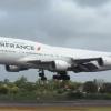 Air France Boeing 747 F-GITI landing in MRU